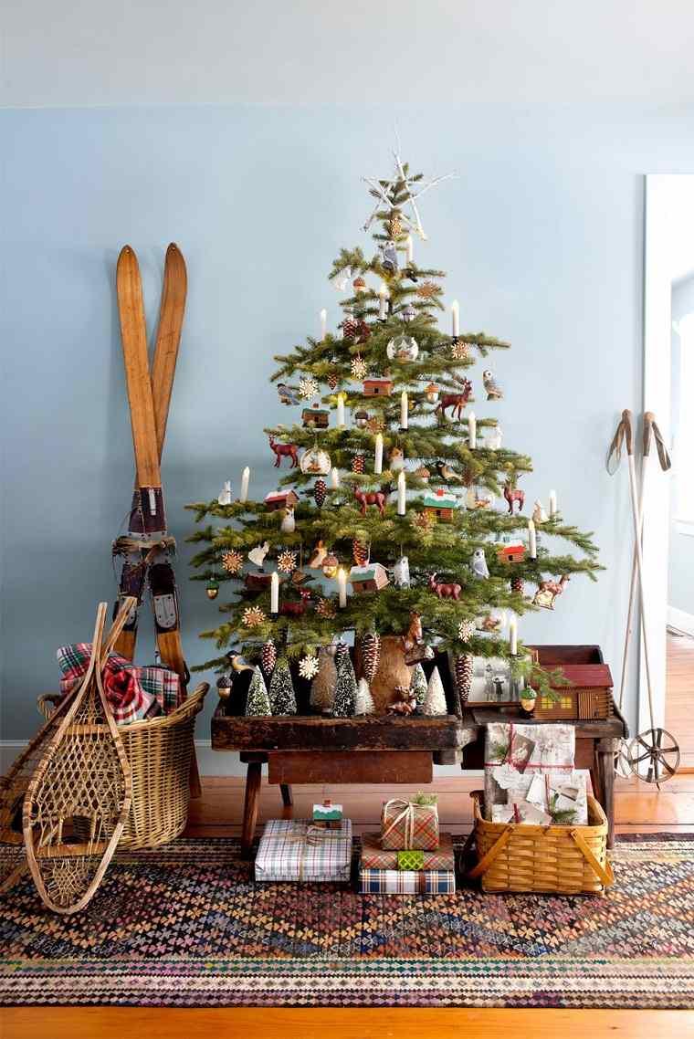 árboles de navidad originales-decorar-estilo-vintage