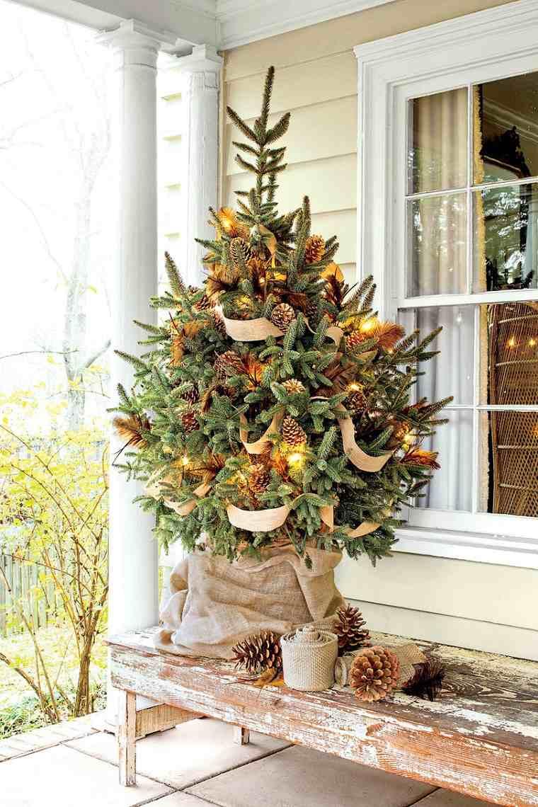 árboles de navidad originales-decorar-exteriores