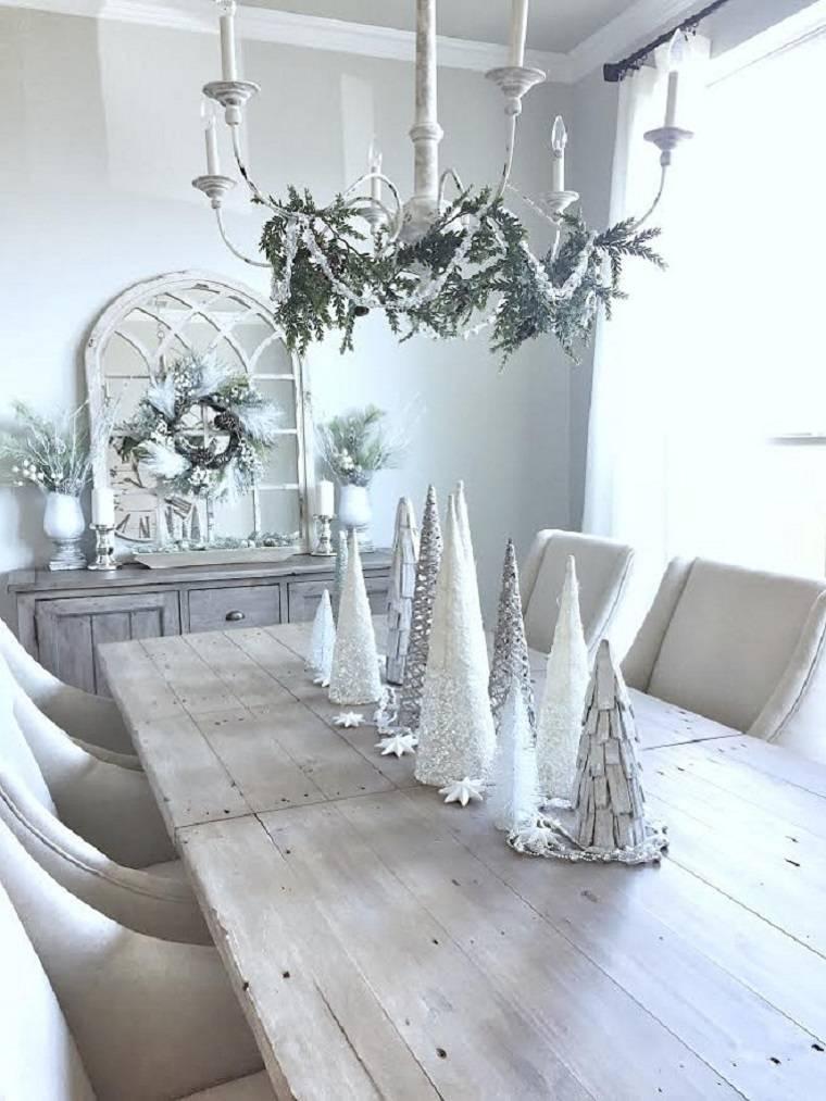 arboles-navidad-blancos-pequenos-decorar-mesa