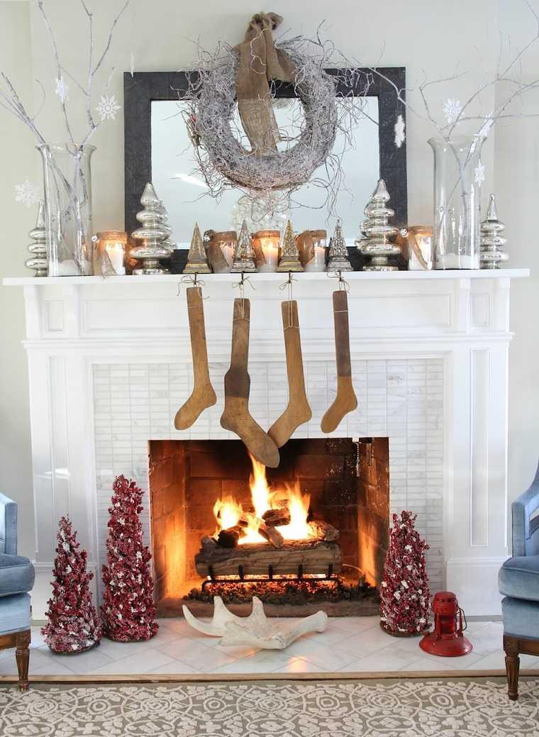 arboles-navidad-mini-decorar-chimenea