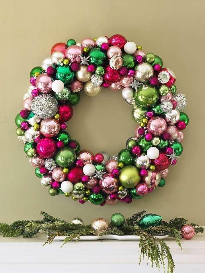 arreglos navideños corona bolas