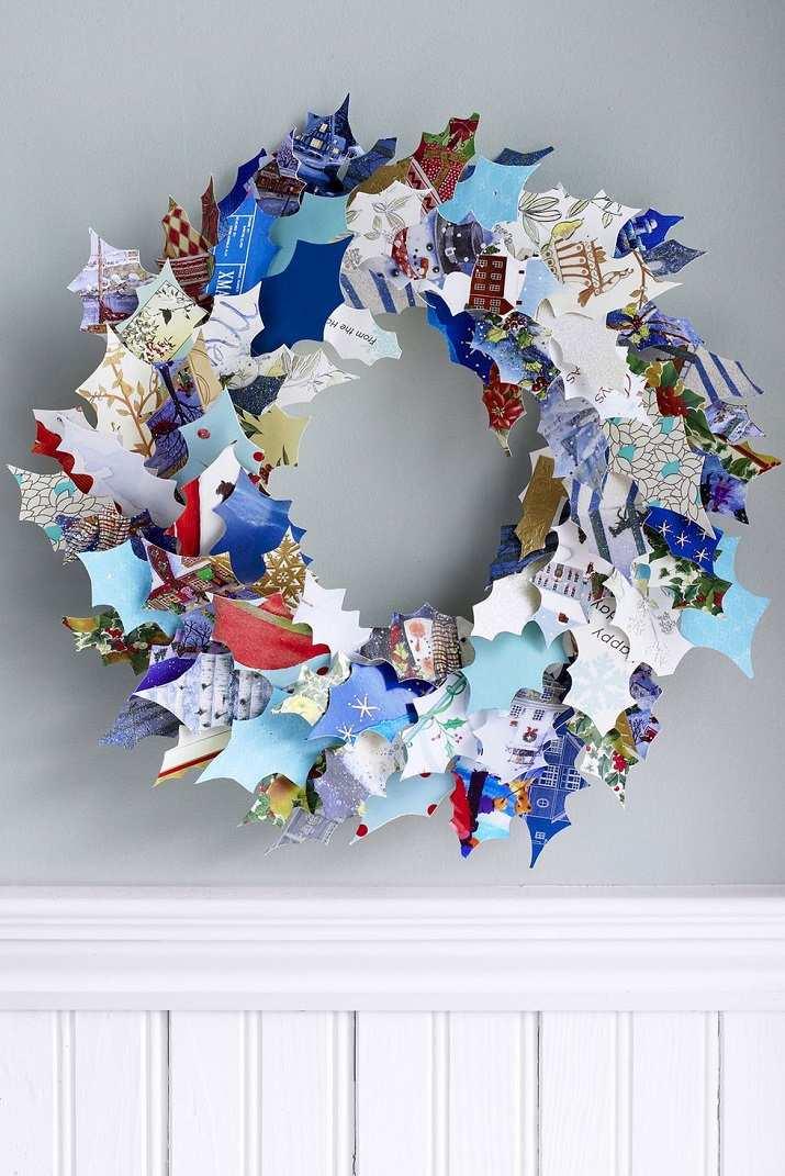 arreglos navideños papel reciclado