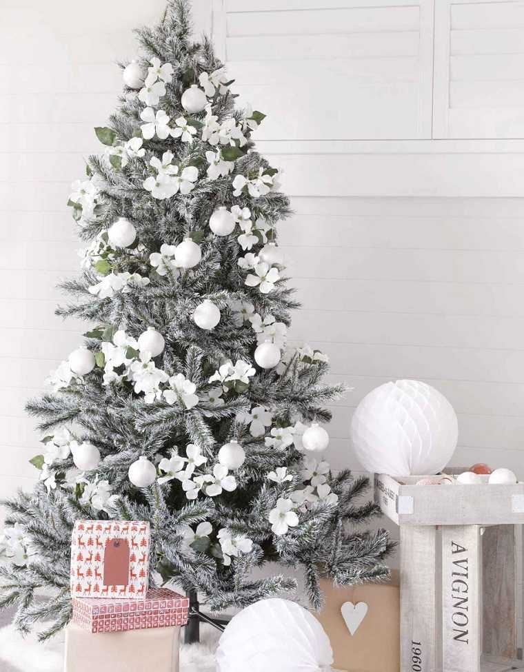 blanca navidad-estilo-arbol-bello