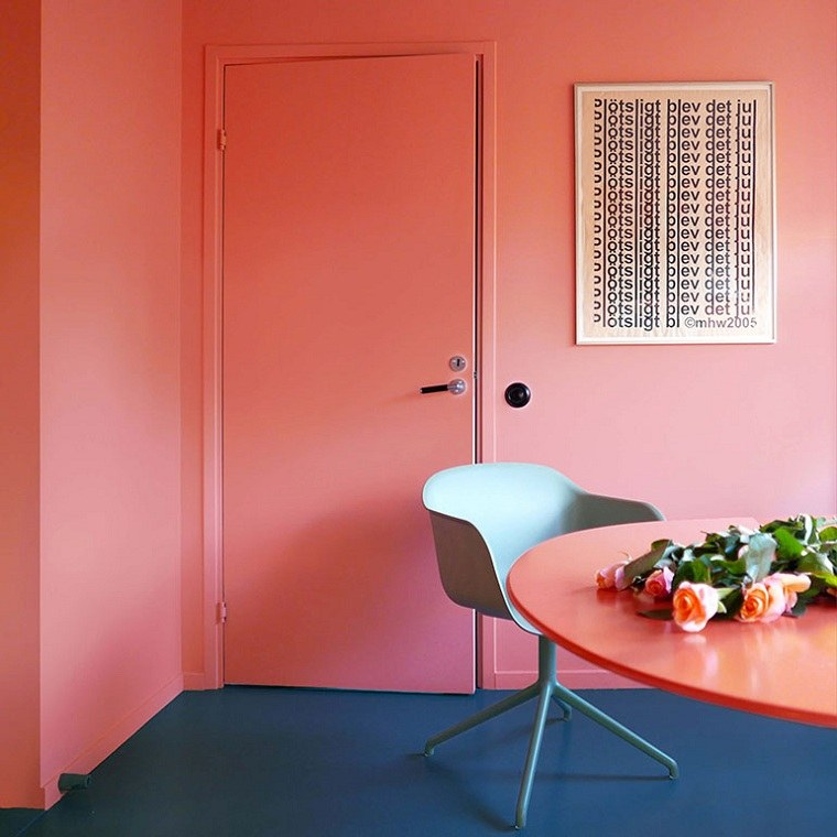 color-coral-muebles-sala-ideas
