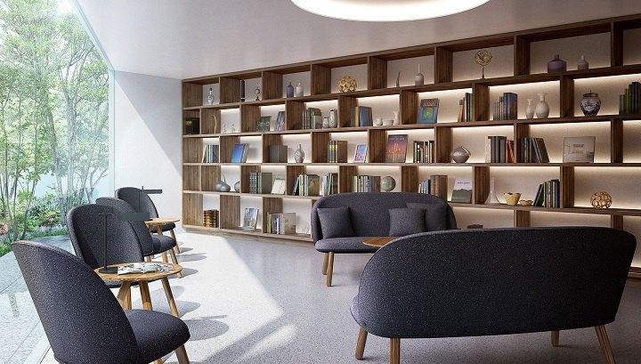 combinacion muebles madera tejidos