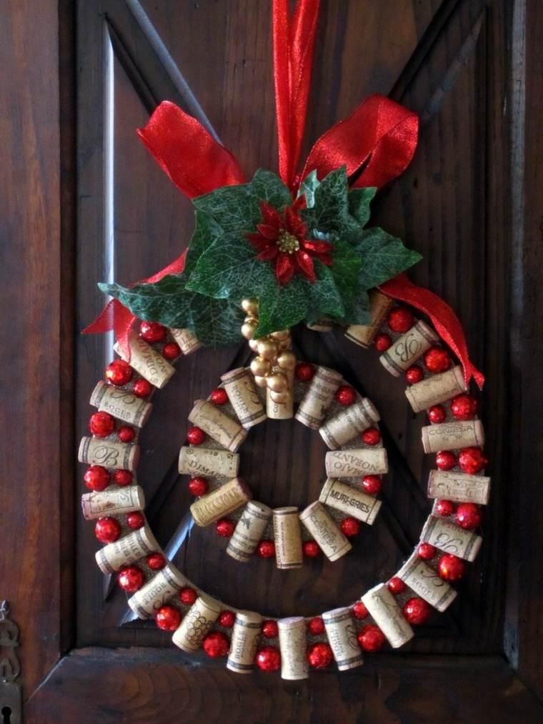 Corona decorativa de corchos de vino