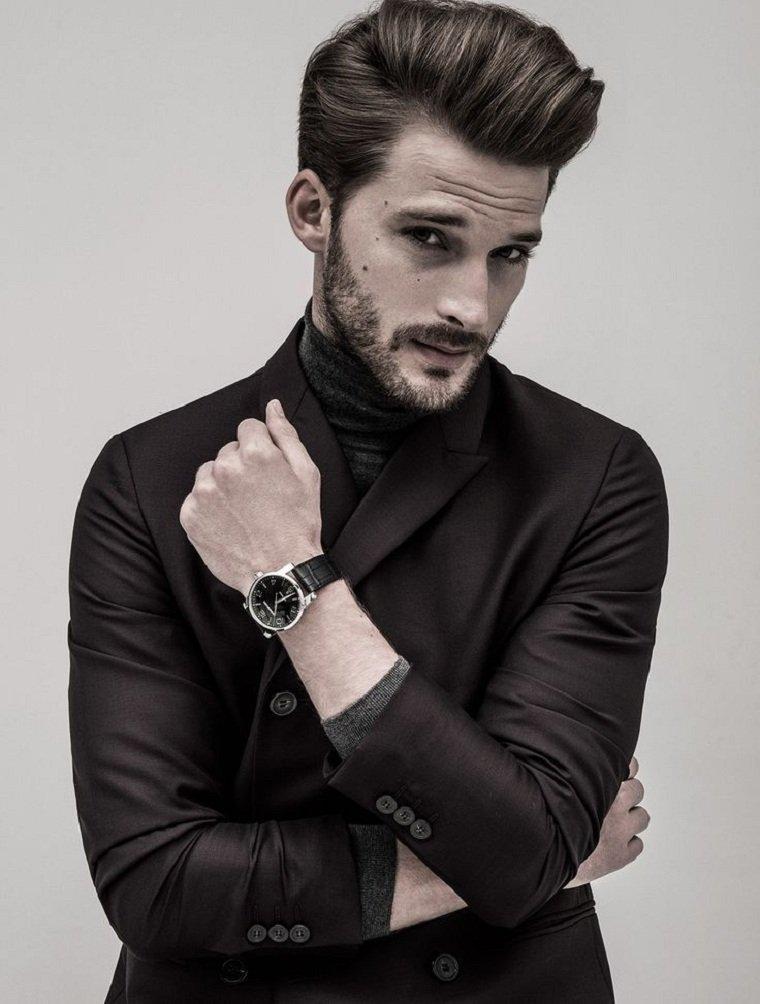 cortes de pelo hombre 2018 barba-estilo-jovenes