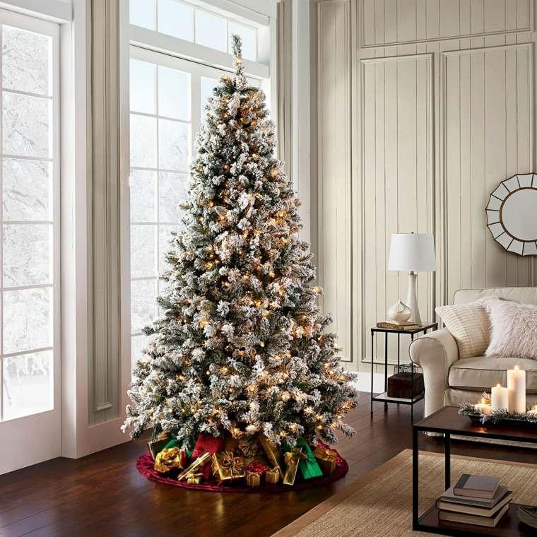 decoración-de-árbol-de-Navidad-con-luces