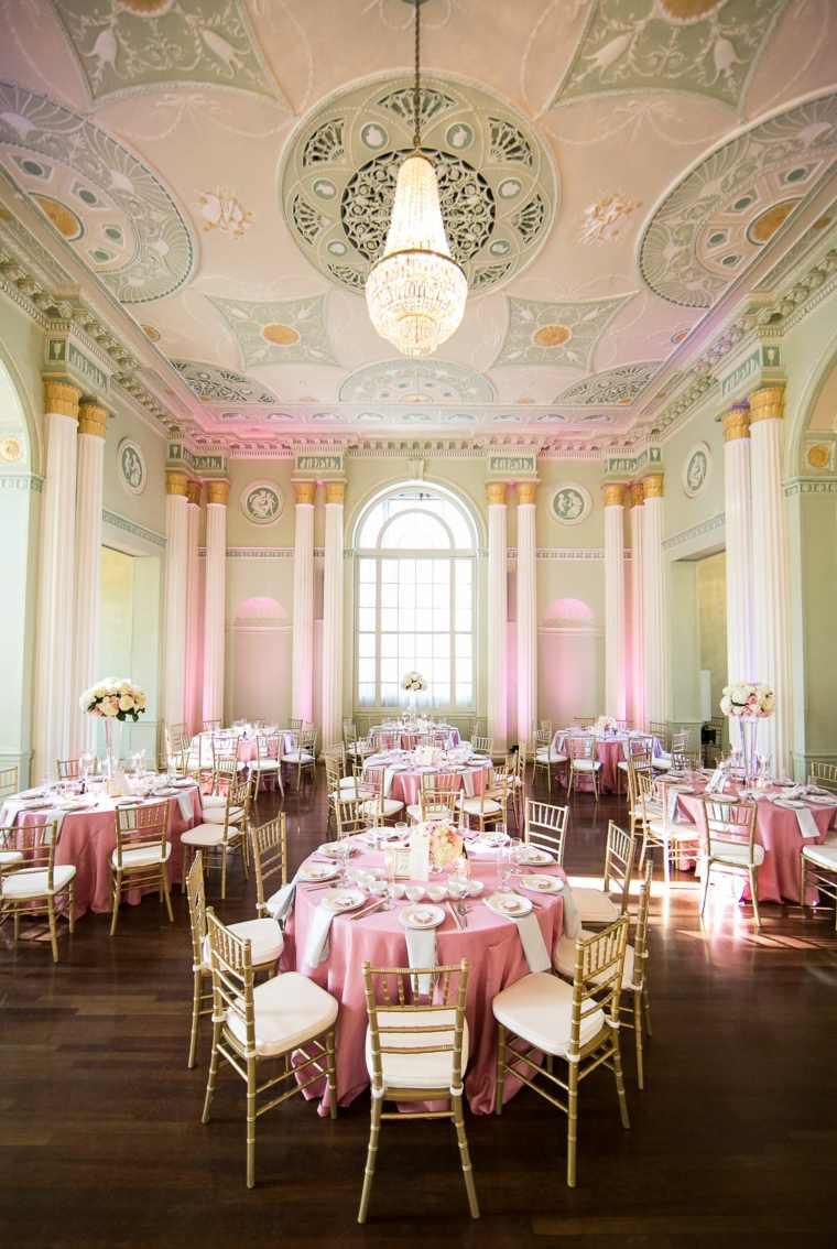 decoracion-boda-color-coral estilo