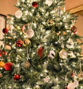 decoraciones navideñas árbol-brillante