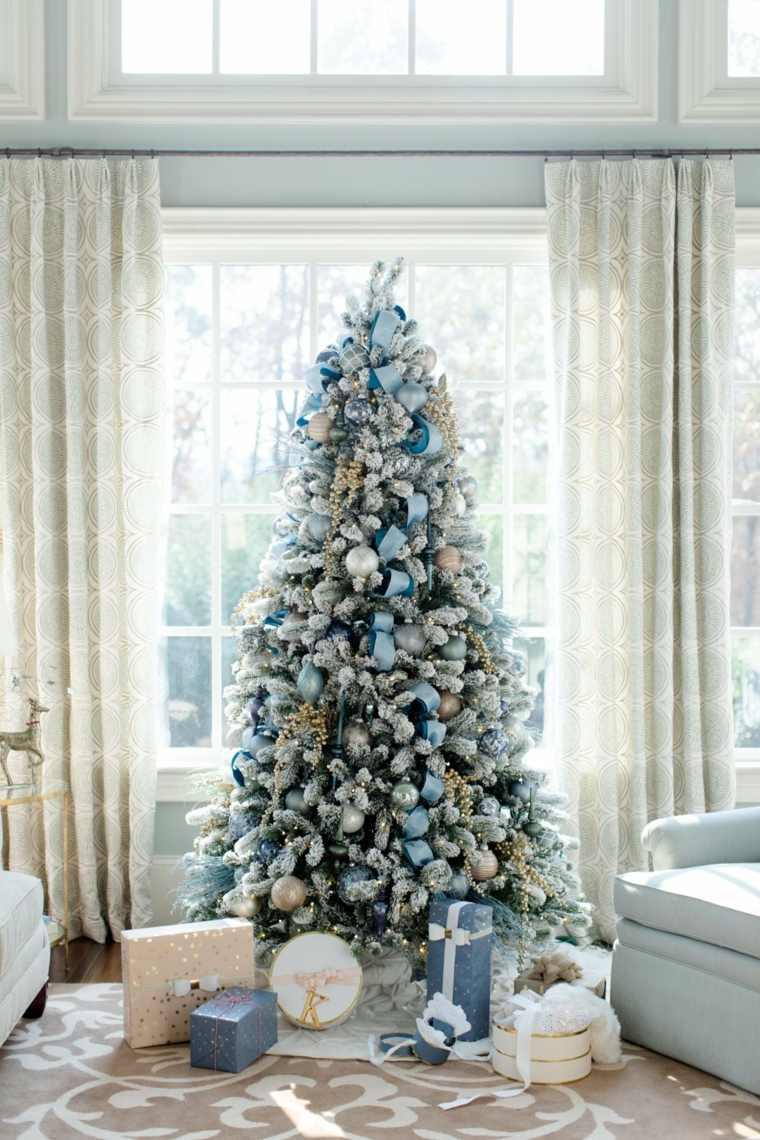 decoraciones navideñas azul