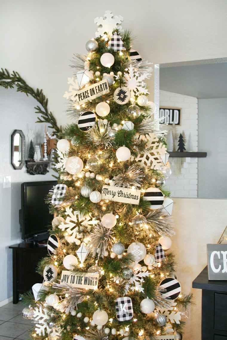 decoraciones navideñas en-blanco-y-negro