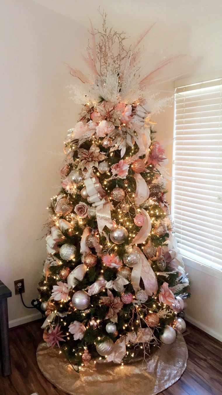 decoraciones navideñas rosa