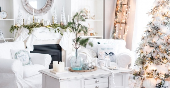 Blanca navidad - 30 + ideas de espacios decorados en blanco para la Navidad