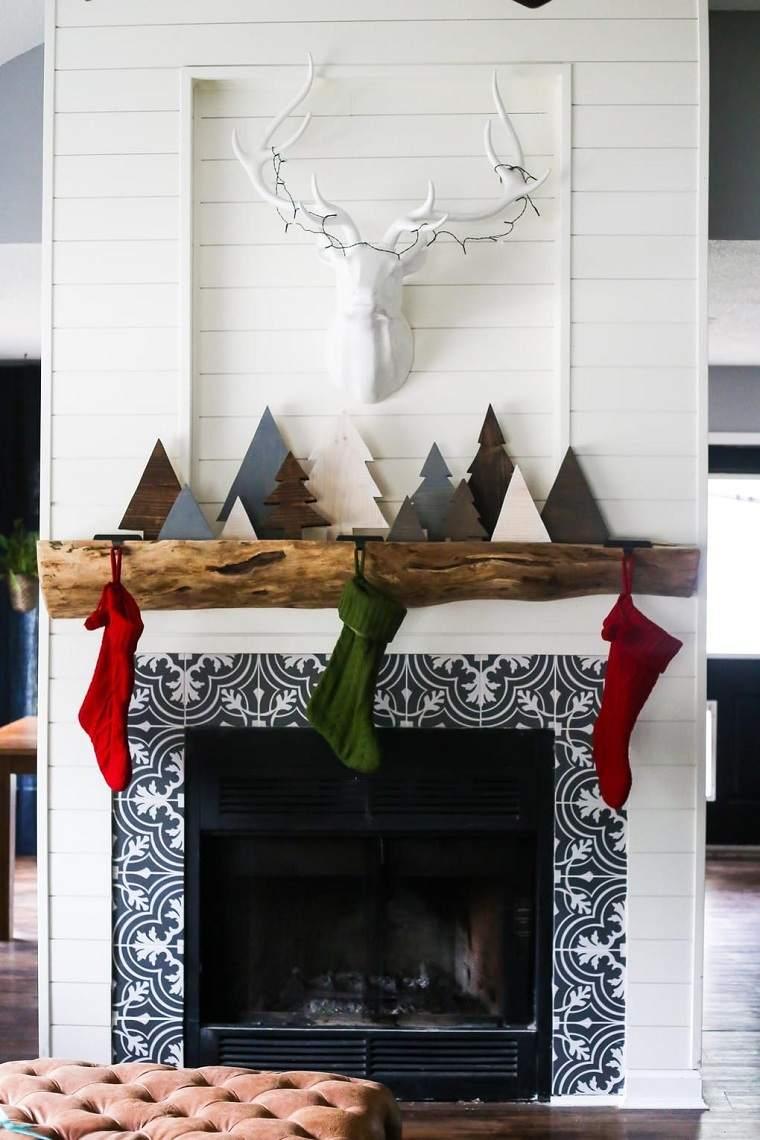 decoraciones para navidad-arboles-madera