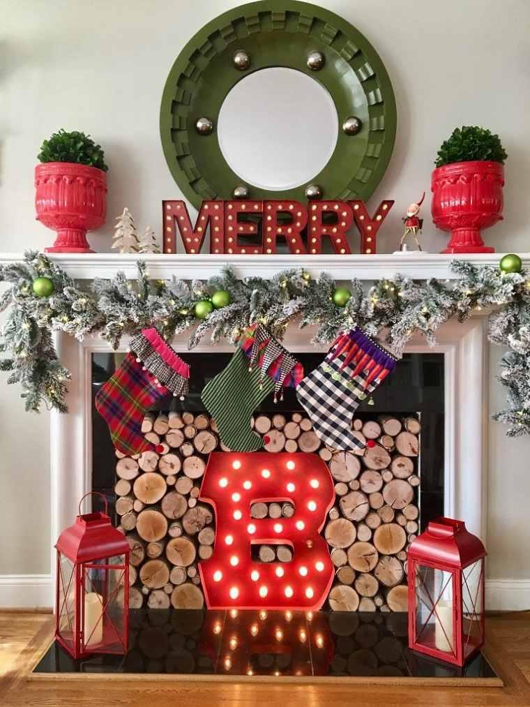decoraciones para navidad-rojo-verde-ideas