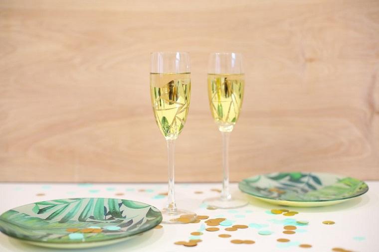 regalos diy -copas-champan-oro