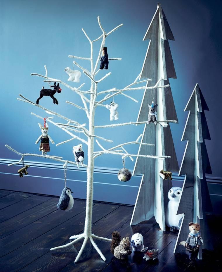 hygge decoración-arbol-navidad-blanco