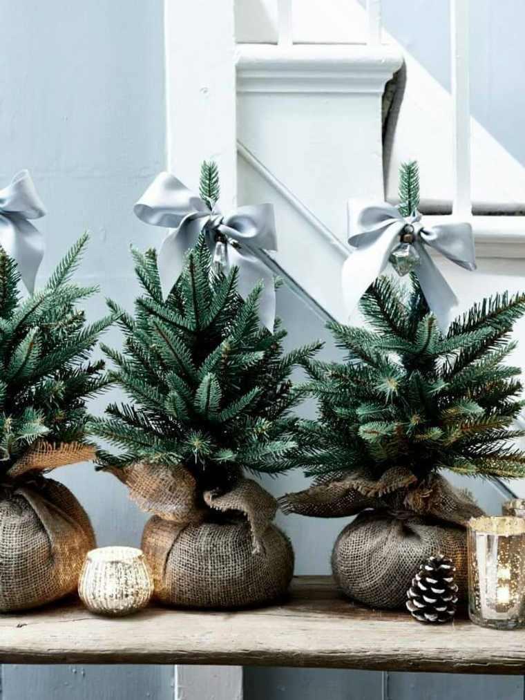 hygge decoracion-arboles-navidad-pequenos