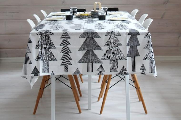 hygge-decoracion-mantel-arboles-navideno