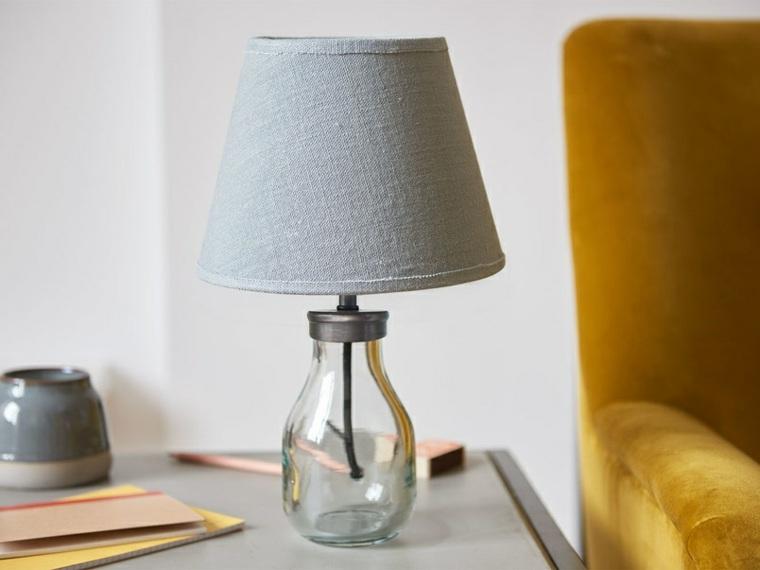 Lámparas de mesa de vidrio