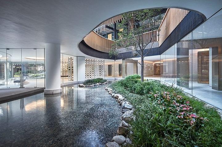 modelos de casas jardines interiores