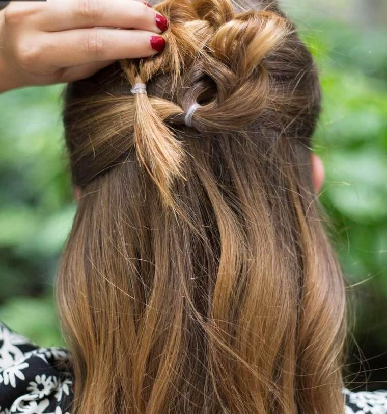 peinados para cabello largo-trenza-envuelta