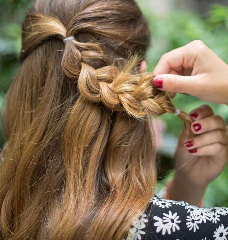 peinados para cabello largo-trenza-opciones-tutorial