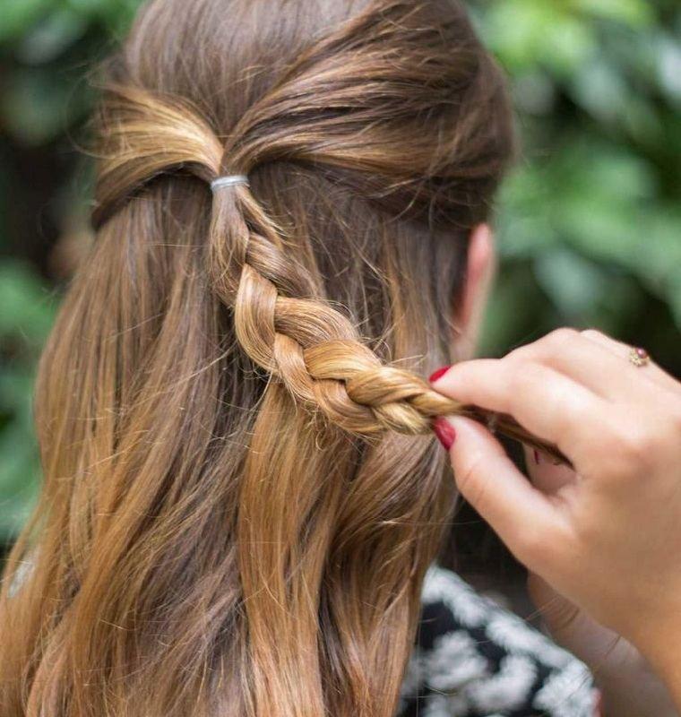 peinados para cabello largo-trenza-opciones