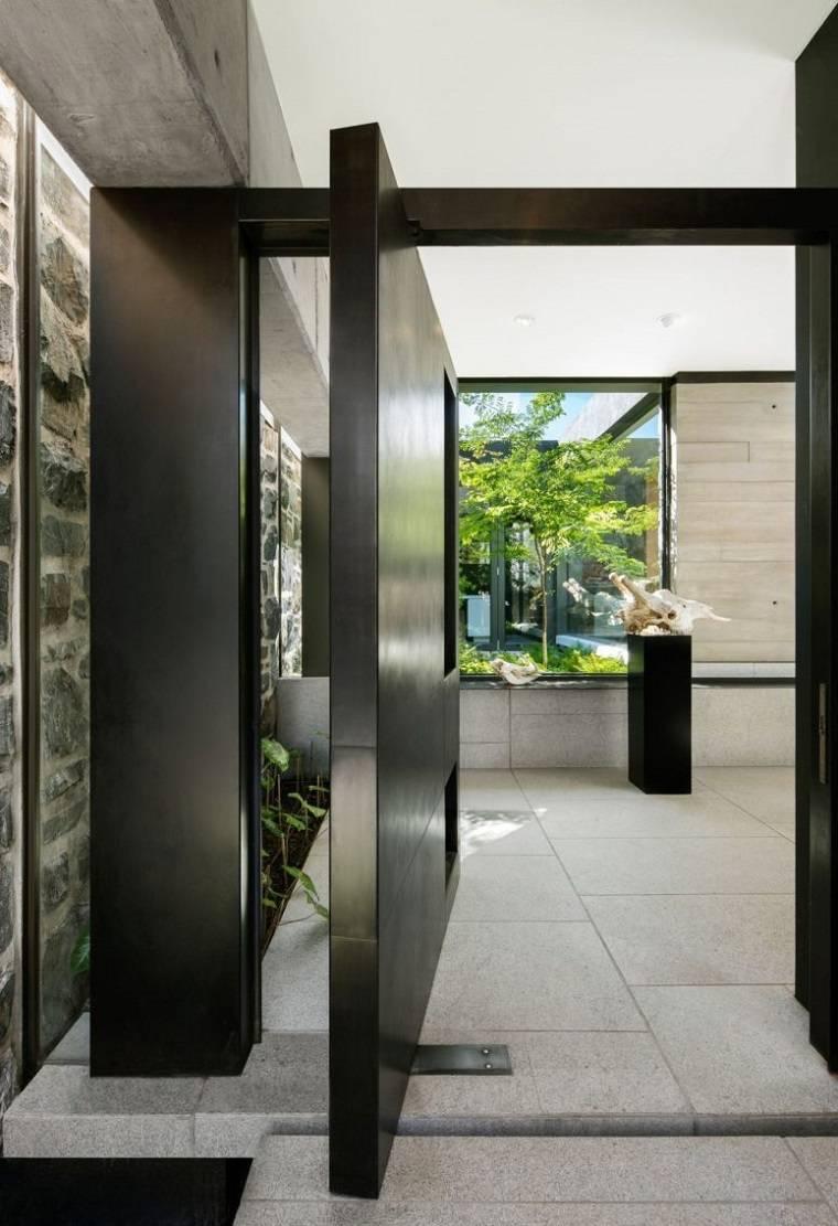 techo de cristal puertas pivotantes
