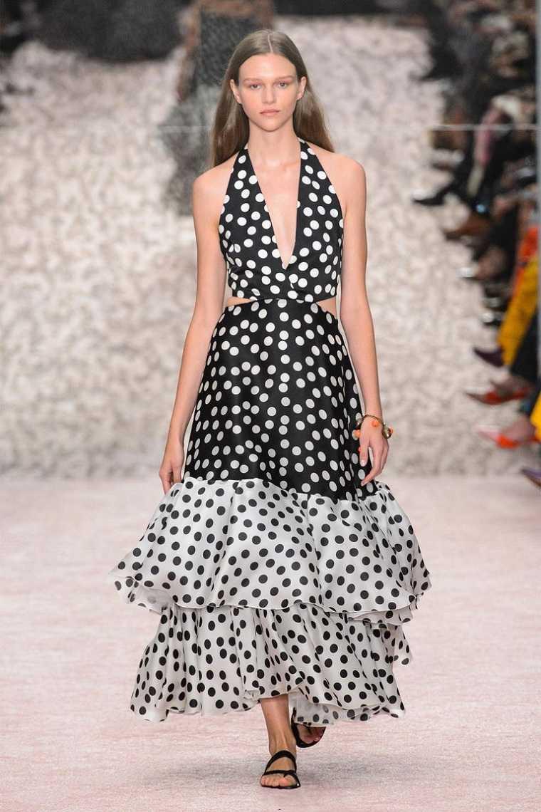 vestido-blanco-negro-puntos-ideas