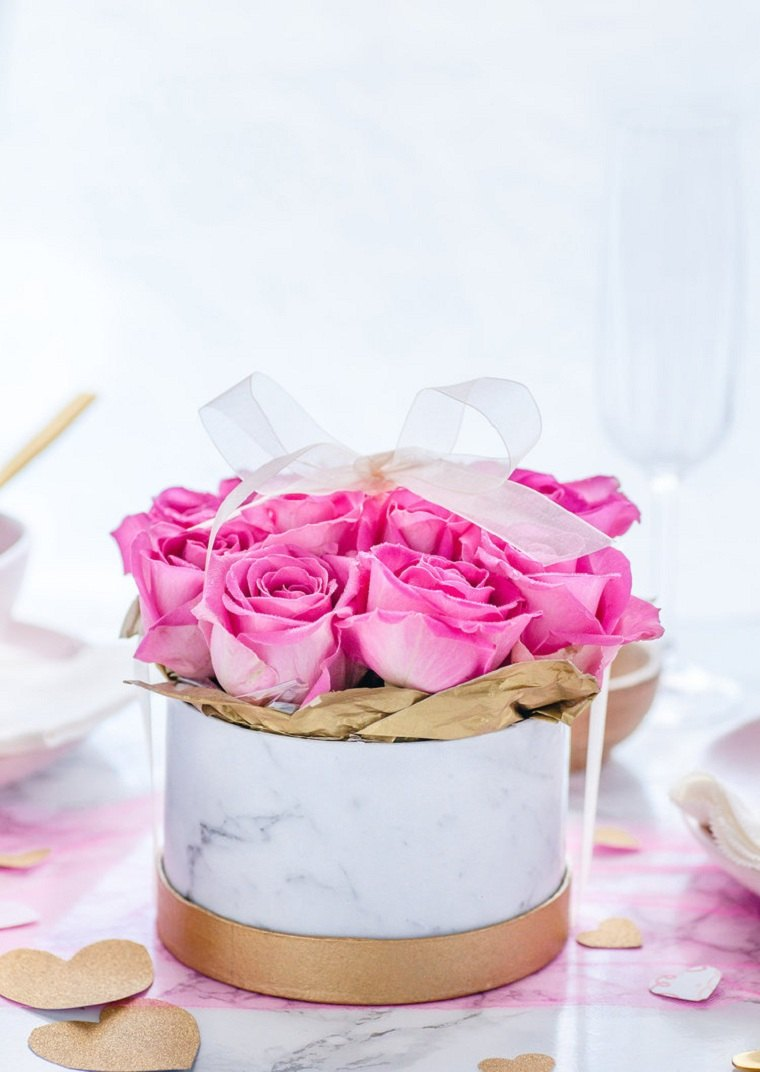 DIY cajas  de rosas