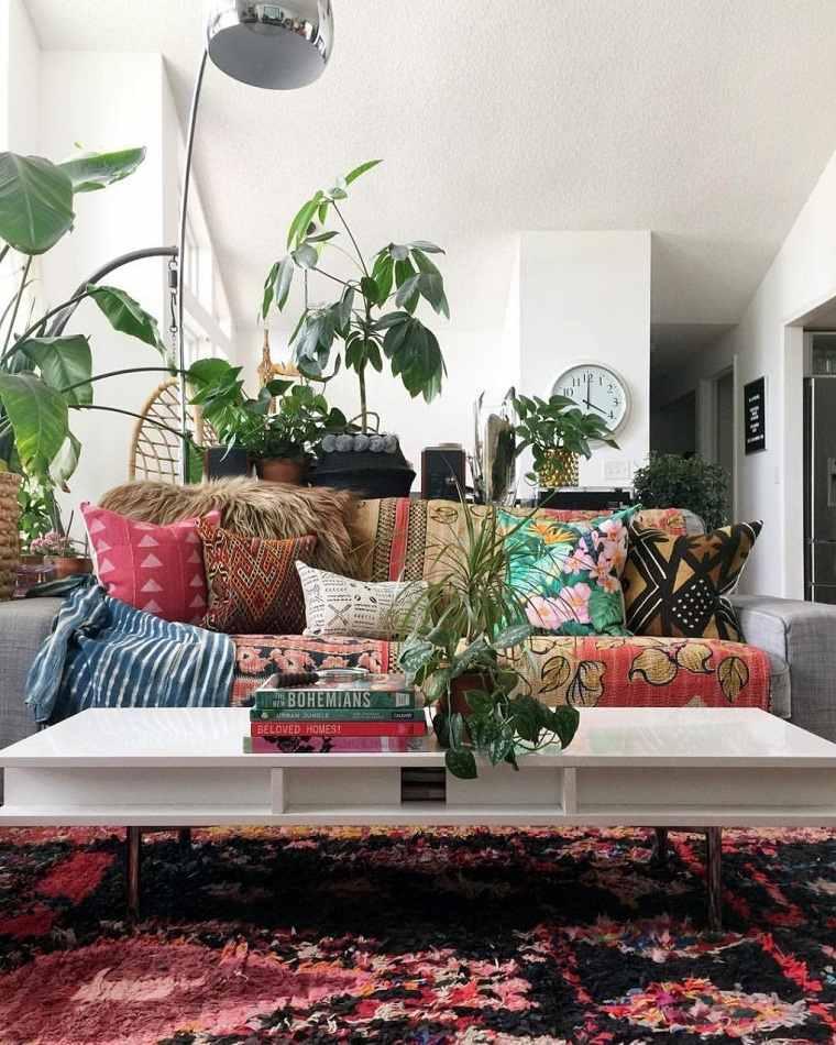 alfombra-sala-estilo-boho