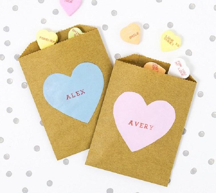 bolsa para dulces de san valentín