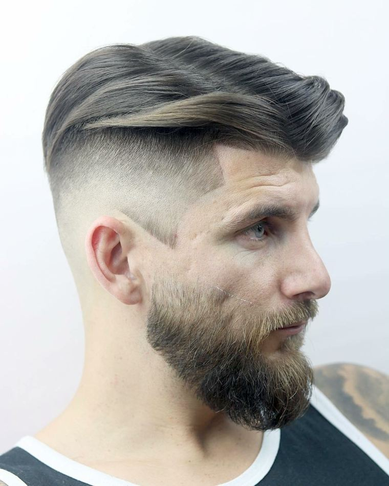 cabello-masculino-lados-rapados-barba