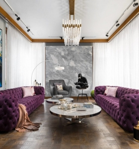 casa diseñada por purple studio
