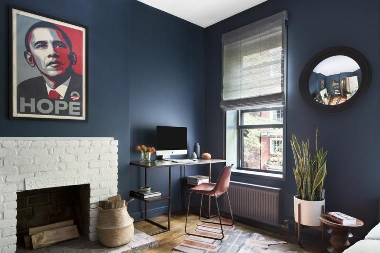 cómo decorar casas pequeñas-oficina-casa