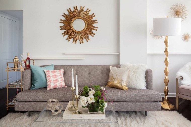 cómo decorar casas pequeñas-sala-estar