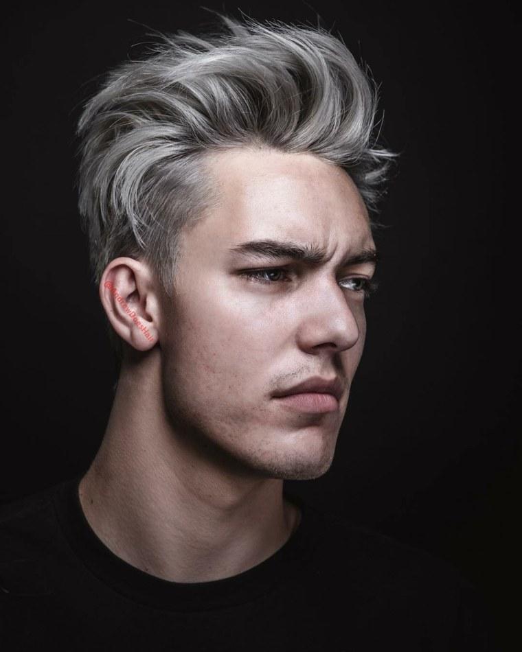 corte-cabello-hombre-color-platino