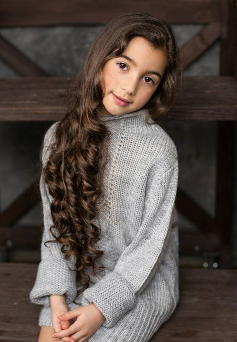 cortes de pelo niñas 2019-cabello-largo-color-castano
