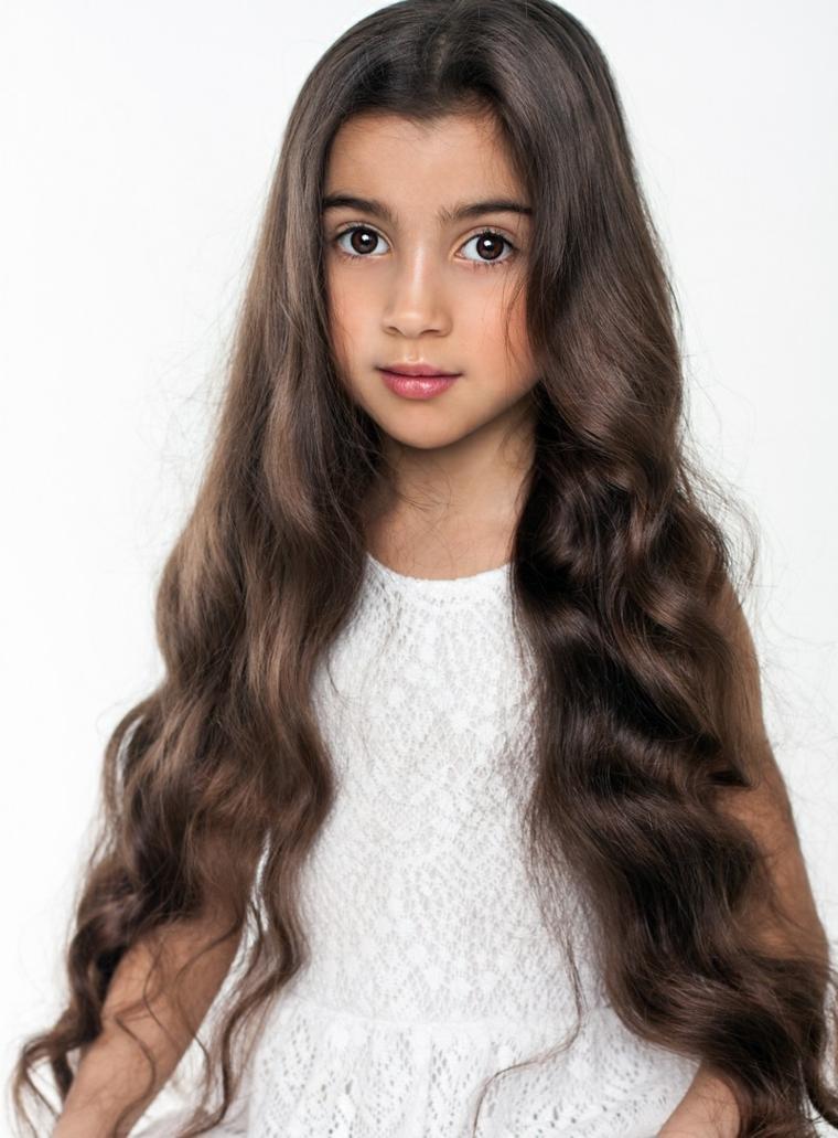 cortes de pelo niñas 2019-cabello-largo-ondulado
