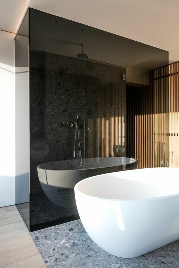 cristal ahumado marrón-baño