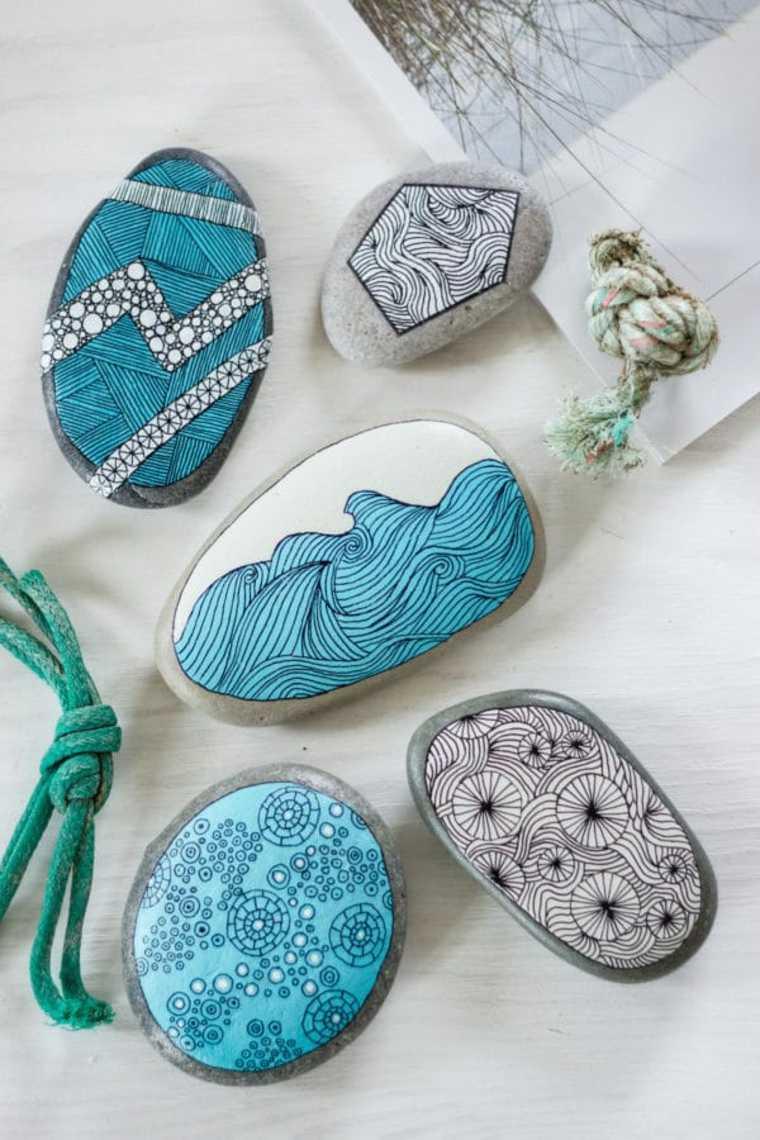 como decorar piedras pintura