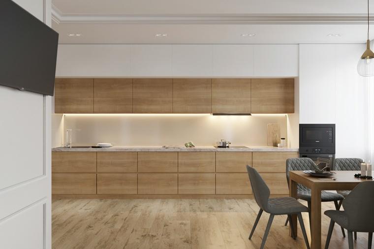 gabinetes de madera natural