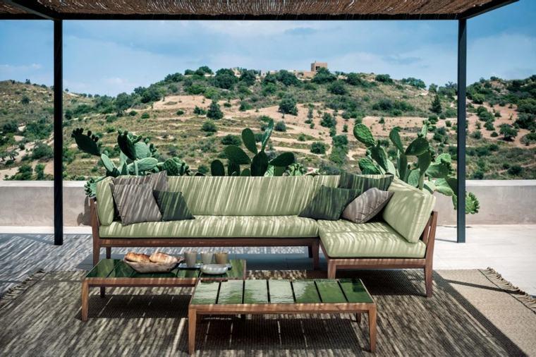 diseño de jardines 2019-muebles-madera