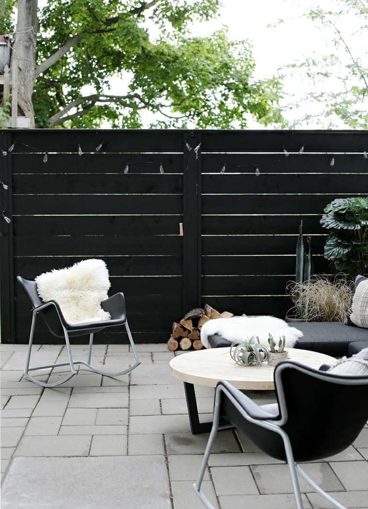 diseño de jardines 2019-pared-madera