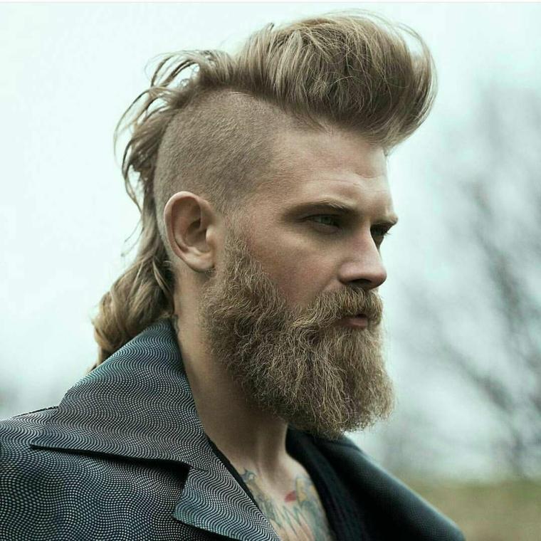 hombre-barba-larga-cabello-rapado-lados