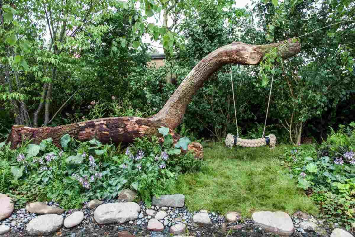 jardines con columpio original