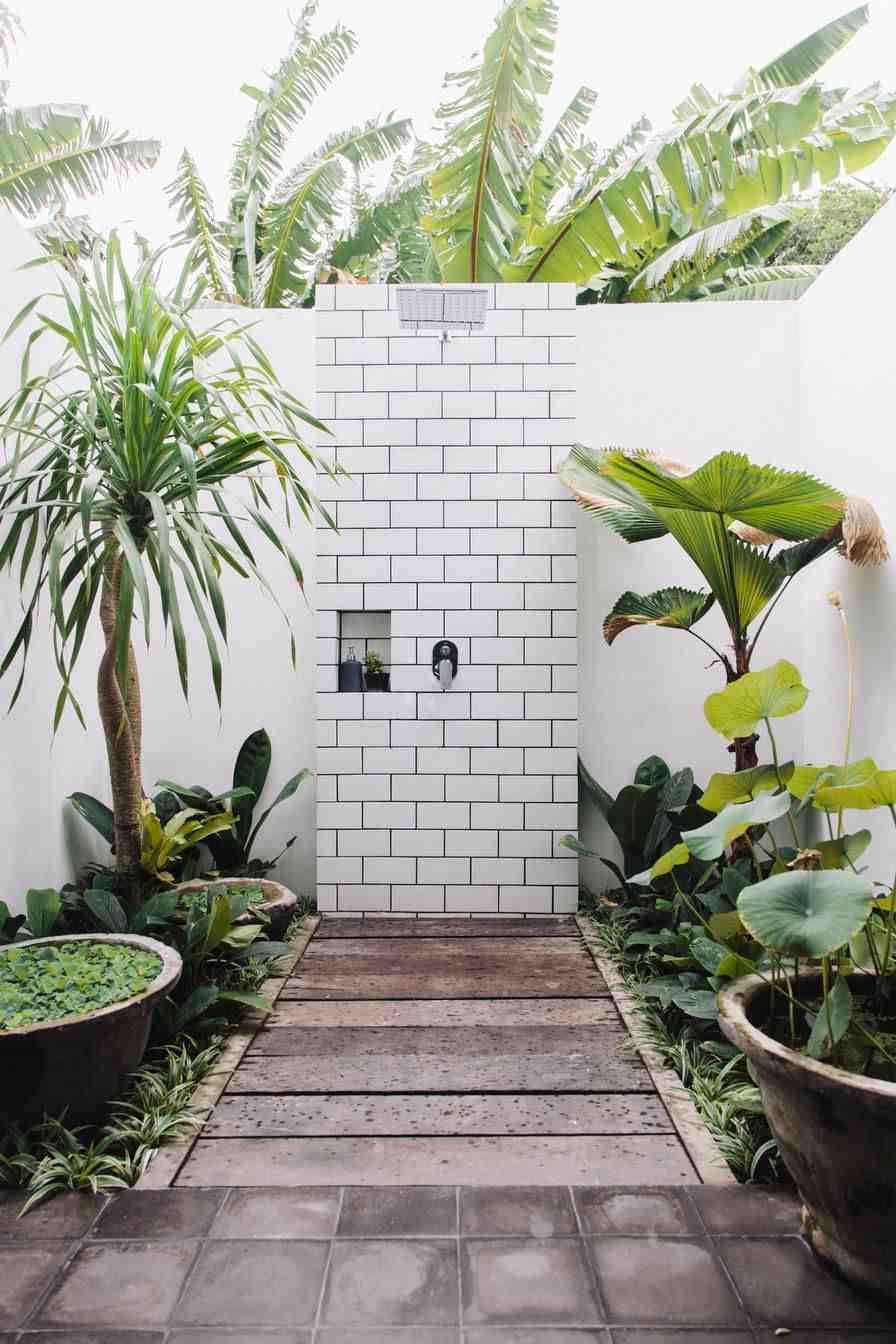 jardines con ducha original