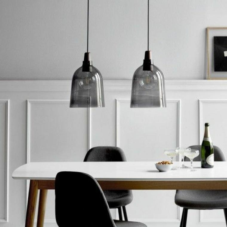 lámparas-colgantes-de cristal ahumado